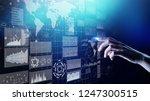 business intelligence dashboard ...   Shutterstock . vector #1247300515
