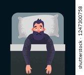 sleepless insomnia concept art. ... | Shutterstock . vector #1247300758