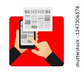mobile mass media online  ... | Shutterstock .eps vector #1247306578