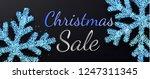 christmas sale. promotion... | Shutterstock .eps vector #1247311345