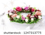 christmas wreath salad with... | Shutterstock . vector #1247313775
