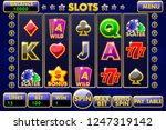 vector interface slot machine.... | Shutterstock .eps vector #1247319142