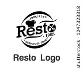 resto logo template stock photo | Shutterstock .eps vector #1247323318