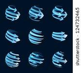 global arrow icons | Shutterstock . vector #124732465
