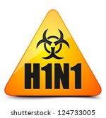 h1n1 swine flu warning sign | Shutterstock .eps vector #124733005