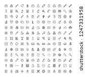school accessories icon set.... | Shutterstock .eps vector #1247331958