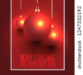 christmas design with red... | Shutterstock .eps vector #1247332192