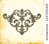 retro baroque decorations... | Shutterstock .eps vector #1247332405