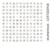 programming icon set.... | Shutterstock .eps vector #1247332918