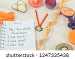 clock made of fresh ripe fruits ... | Shutterstock . vector #1247335438