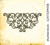 retro baroque decorations... | Shutterstock .eps vector #1247339458