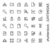 financial icon set. collection... | Shutterstock .eps vector #1247340265