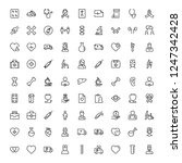 cancer icon set. collection of... | Shutterstock .eps vector #1247342428