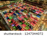 bird eyes view of multi colored ...   Shutterstock . vector #1247344072