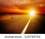 Endless Road During Sunset