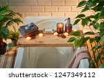 modern bath room and spa center ... | Shutterstock . vector #1247349112