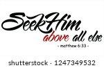 seek him above all else.bible... | Shutterstock .eps vector #1247349532