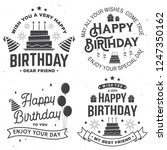 set of happy birthday templates ... | Shutterstock .eps vector #1247350162