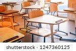empty school class | Shutterstock . vector #1247360125