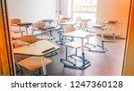 empty school class | Shutterstock . vector #1247360128