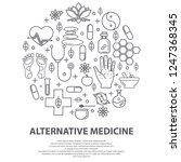 alternative medicine centre... | Shutterstock .eps vector #1247368345