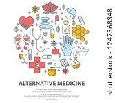 alternative medicine centre... | Shutterstock .eps vector #1247368348