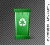 vector green recycle garbage... | Shutterstock .eps vector #1247383942