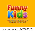 bright logo with text funny... | Shutterstock .eps vector #1247385925