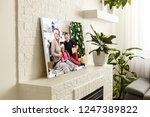large wall canvas portrait of... | Shutterstock . vector #1247389822