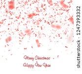 red glitter confetti vector.... | Shutterstock .eps vector #1247393332