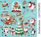 vintage christmas poster design ...   Shutterstock .eps vector #1247396392