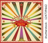 Square Circus Color Card. A...