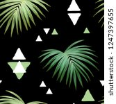 dark tropical background with... | Shutterstock .eps vector #1247397655