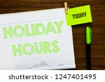 writing note showing holiday... | Shutterstock . vector #1247401495
