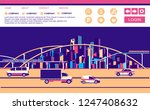 vector horizontal conceptual... | Shutterstock .eps vector #1247408632
