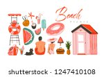hand drawn vector abstract... | Shutterstock .eps vector #1247410108