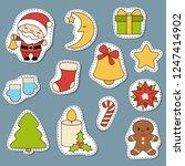 set of christmas new year... | Shutterstock .eps vector #1247414902