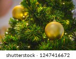 christmas tree with decorated... | Shutterstock . vector #1247416672