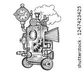 fantastic steam punk machine... | Shutterstock .eps vector #1247423425