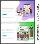 business training seminar for... | Shutterstock .eps vector #1247424352