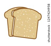 vector toast icon. flat... | Shutterstock .eps vector #1247424958