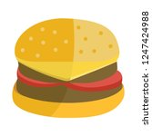burger sandwich isolated on... | Shutterstock .eps vector #1247424988