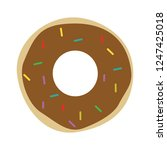 vector donut illustration... | Shutterstock .eps vector #1247425018