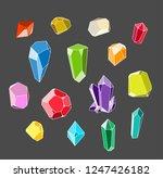 crystal set. colorful gemstones ...   Shutterstock .eps vector #1247426182