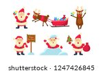 flat vector set of colorful... | Shutterstock .eps vector #1247426845