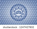 phone icon inside blue badge... | Shutterstock .eps vector #1247427832