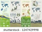 renewable energy infographics...   Shutterstock .eps vector #1247429998