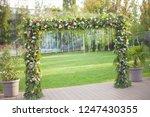 floral wedding decoration | Shutterstock . vector #1247430355