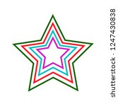 christmas or new year tree star ...   Shutterstock .eps vector #1247430838