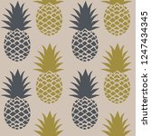 fresh pineapples vector repeat... | Shutterstock .eps vector #1247434345